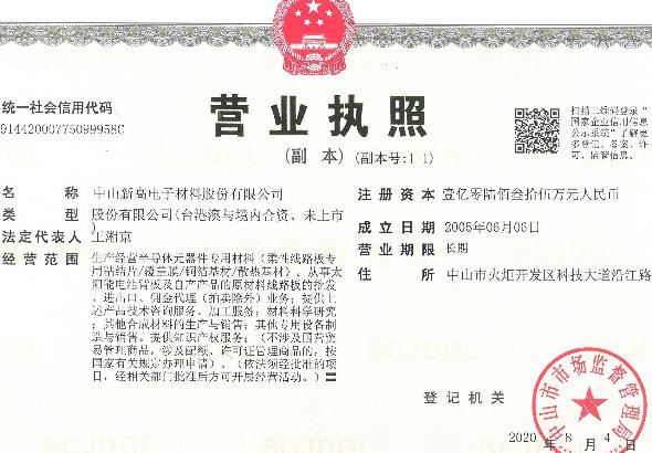 中山新高电子材料股份有限公司_才通国际人才网_job001.cn